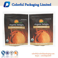 wholesale stand up ziplock paper bag resealable kraft paper doypack brown sugar doypack