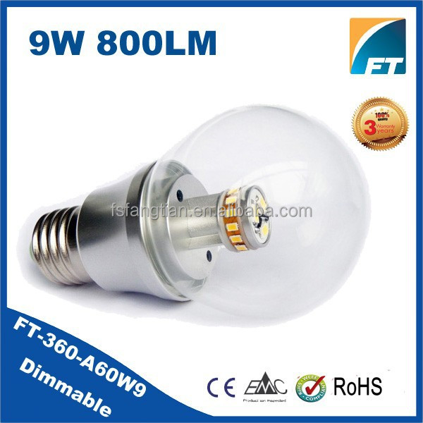Novelty 2015 Aluminum Radiator 9w E27 B22 LED Bulb Light,dimmable led lamp bulb AC85-265V
