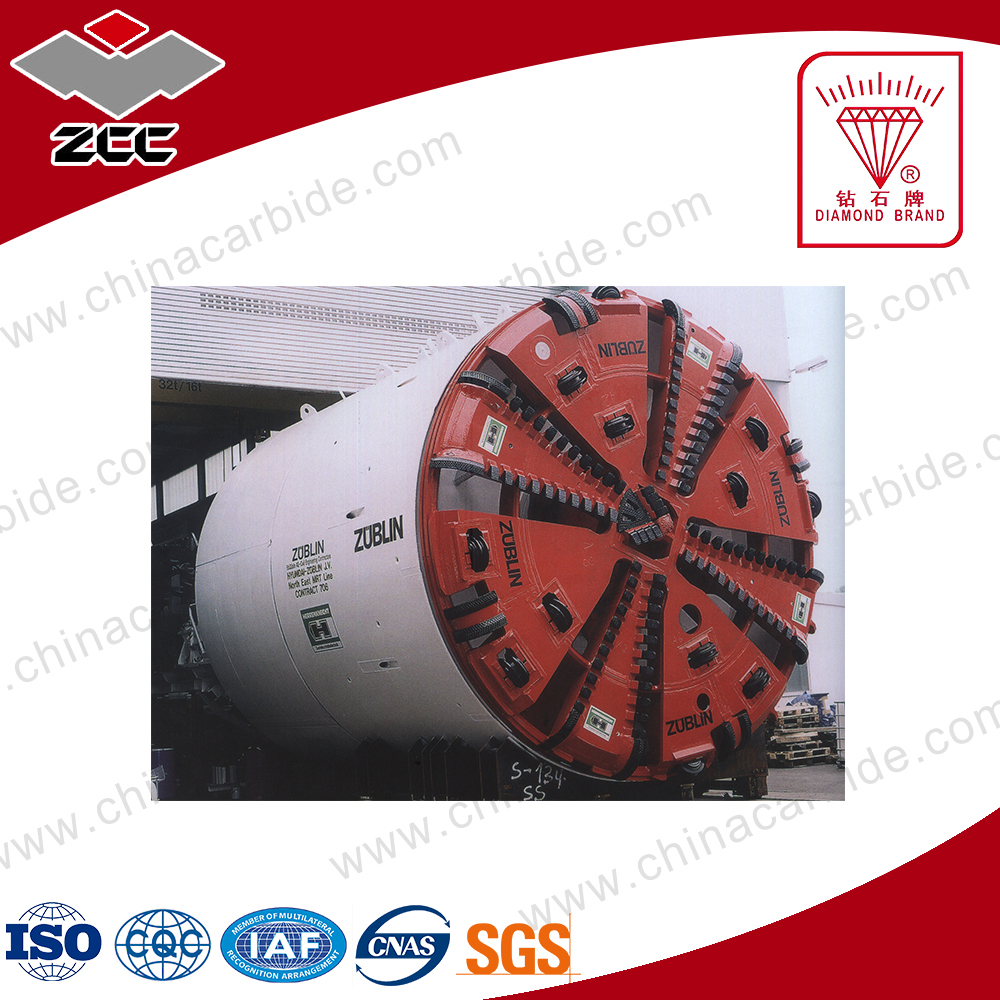 zhuzhou carbide types of carbide tips for tunnel boring machine toolings type LEP