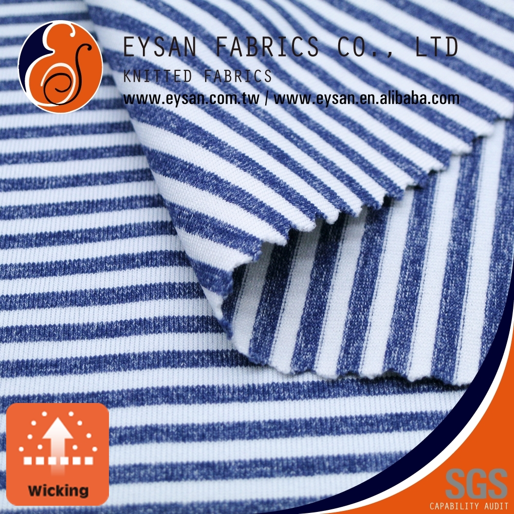EYSAN Wicking Nylon Polyester Spandex Stripe Fabric for Sportswear