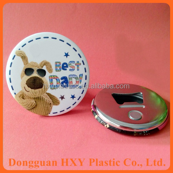 HXY Promotional Customized Blank Handmade Tin Magnetic Bottle Opener