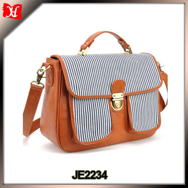 top quality faux leather stylish camera bags for women