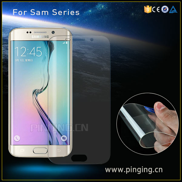 Mobile Accessory Ultra-Thin Full Cover HD Clear TPU Screen Protector For Samsung Galaxy S7 Edge Mobile Screen Protector Film