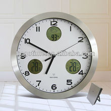Digital Outdoor Thermometer Wall Clock