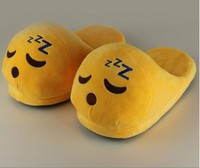 Wholesale Cute Winter Slippers Funny Emoji Indoor Slippers