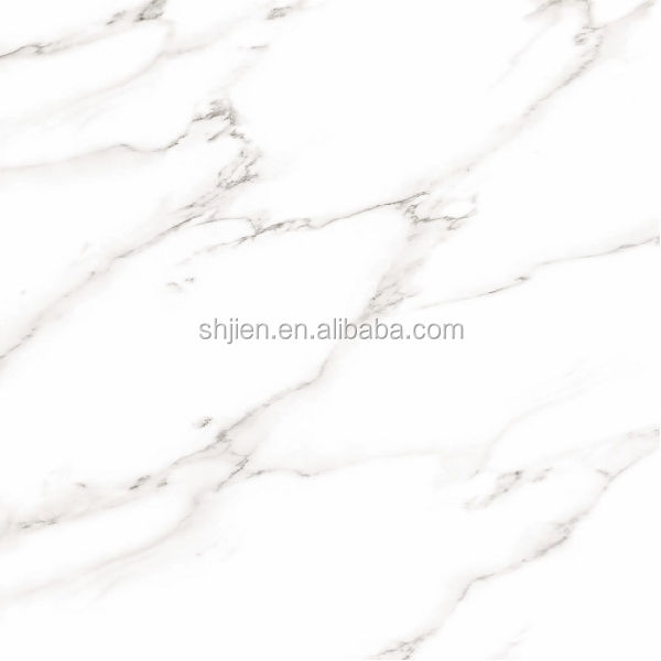 High quality super white marble look full polished glazed porcelain tile