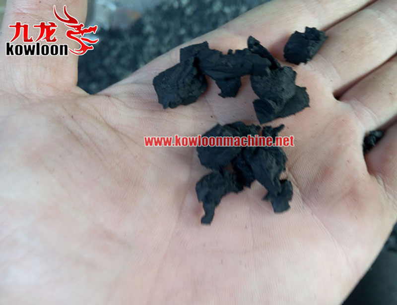 Playground rubber mat production used scrap tire cutting recycled rubber mulch machinery