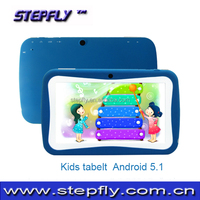 in stock, hot sale kids tablet pc 7 inch capacitive touch screenRK3126 quad core Android 5.1 WIFI