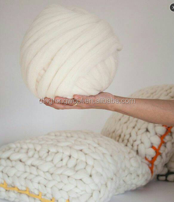 merino wool roving yarn , natural white and dyed colors
