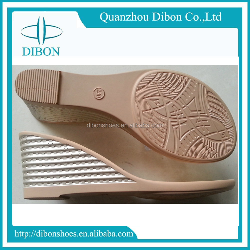 2017 pu soles for ladies sandal shoes