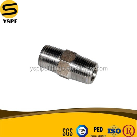 Material ASTM A694 F42 A105 Forged Carbon Steel Pipe Fitting Threaded 4 Inch Hex Nipple 2000 3000 6000B