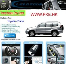 Car Push Engine Start/Stop Button System with Remote Control Keyless Entry Start for Toyota Prado