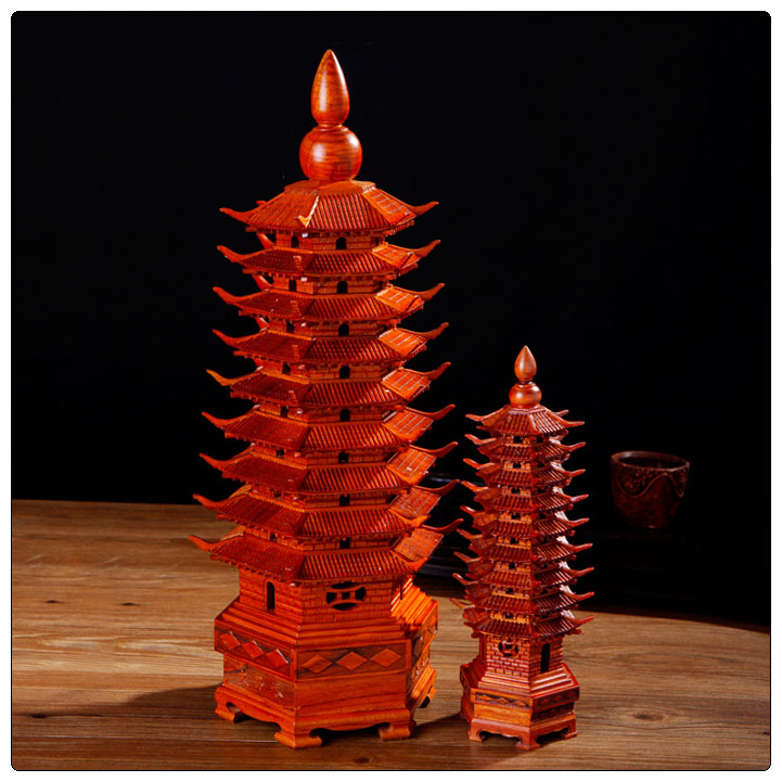 Nanmu 36cm and 56cm Pagoda,wen chang pagoda hot sales