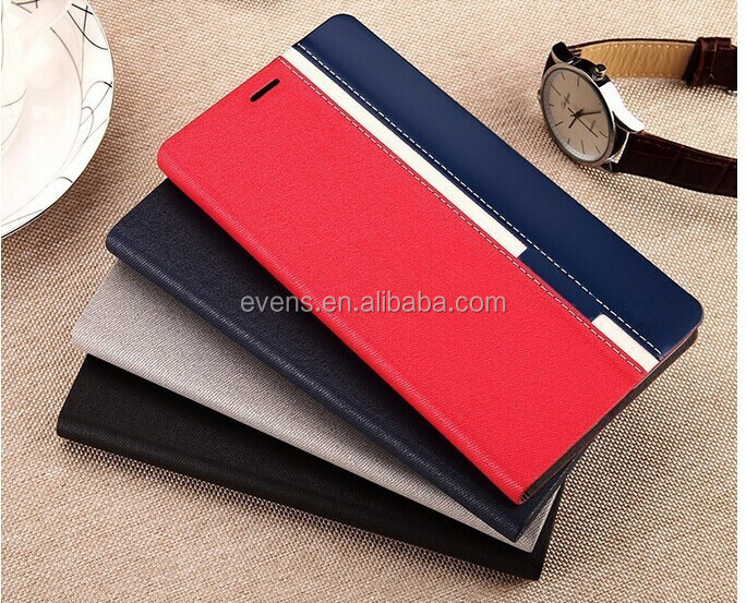 Contrast color Fashion PU Leather Wallet Flip Mobile Phone Case Cover For HTC Desire 601