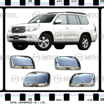 For Toyota Chrome Door Mirror Cover Land Cruiser LC200 08-on