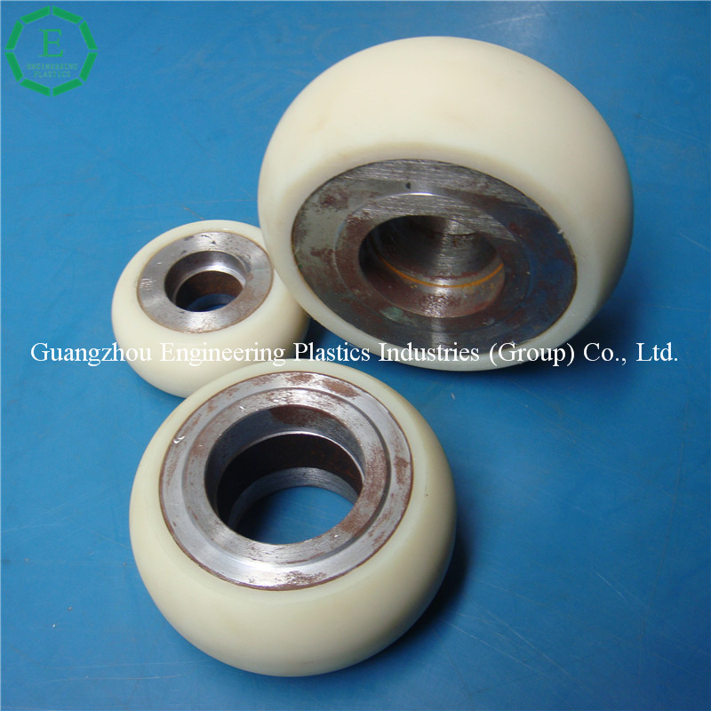 Best price nylon trolley wheel PA contact roller PA plastic trolley wheels