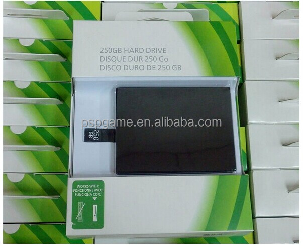 Real Capacity 250 GB hard disk drive for xbox 360 slim