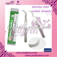 Tweezer for eyelash extension,curved tweezers,stainless steel tweezers