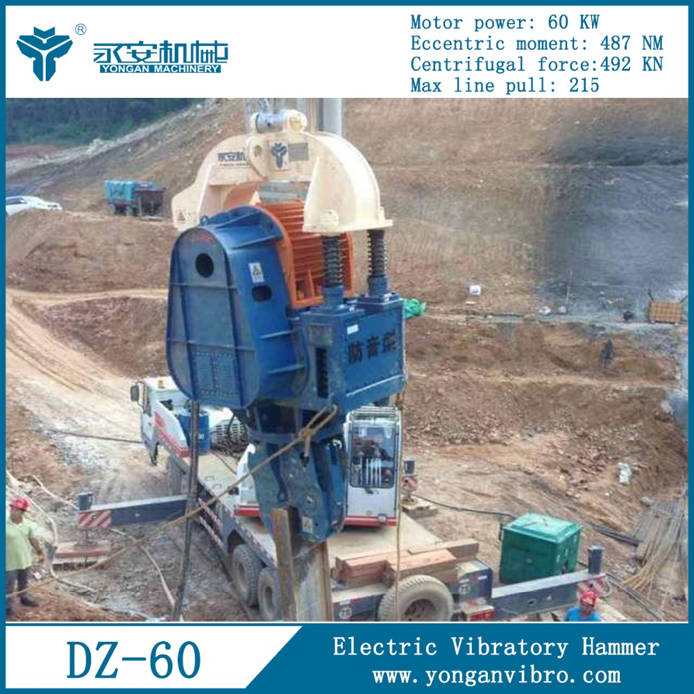 Used Marine Construction Machines DZ60A Electric Vibrating Pile-Drivers Hammer