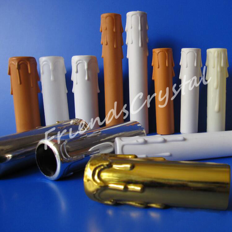 plastic candle tube for candelabra sockets