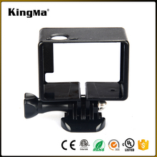 KingMa Hot Action Camera Accessories for BacPac Frame Black Extended Frame with Assorted Mounting Hardware for Gopro Hero4/3/3+
