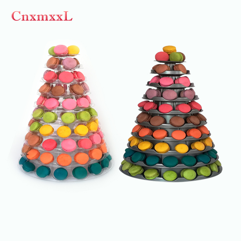 <strong>Retail</strong> new style 10 tier macaron display tower stand with base for best party decoration