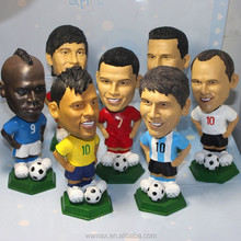 Soccer player toy figures custom football player toy