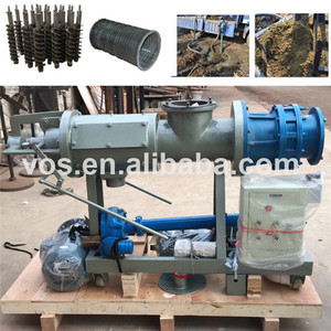 Animal Waste Manure Cow Dung Extrusion Machine Dewatering Machine On Farms