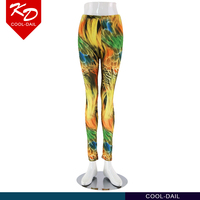 wholesale colorful printed fitness leggings polyester spandex running jogging sexy ladies tights