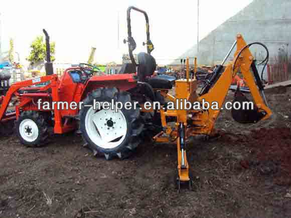 small garden tractor backhoe loader compact tractor