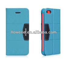 FL2920 2013 Guangzhou new arrival stand pu leather case for iphone 5c