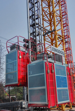Construction site used frequency inverter type passenger hoist with rack and opinion