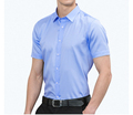 Men's Non Iron Dress Shirts Pure Cotton High End white blue Office short sleeves Shirt