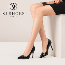 A0520 2018 pointed toe mature citi trends high heeled dress pump evening shoes for women online