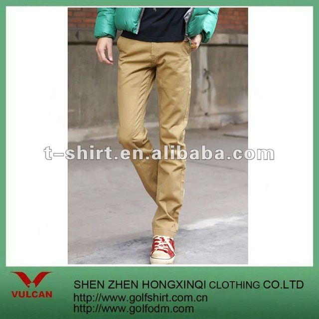 Kahki cotton Casual Men Pants