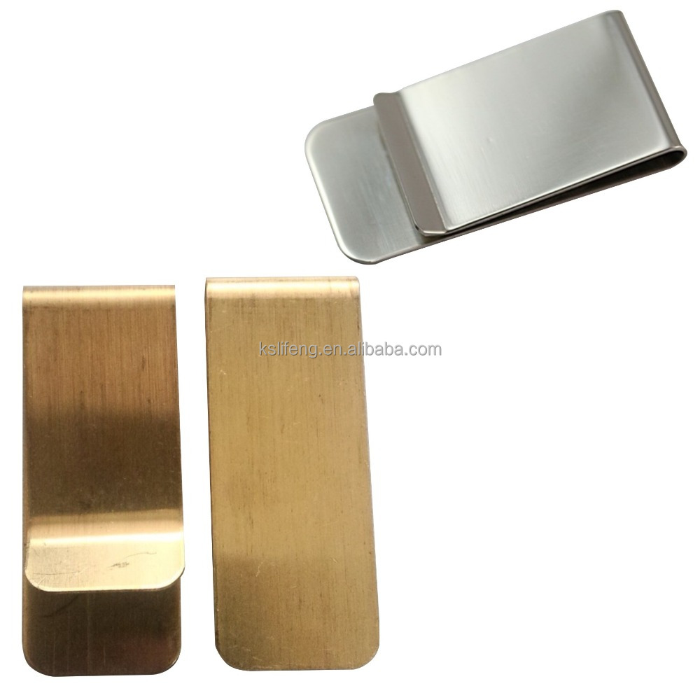 cheap cool metal Money clip with Gold color