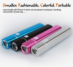 Anual Sales 10000units!!Intelligent Portable Mobile Power Banks With Flashlight For iphone mobiles