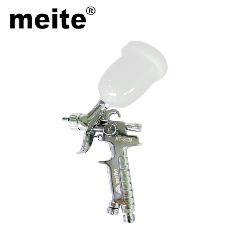 meite MT-2000 mini plastic 100cc paint cup aluminum hvlp Touch-up gravity spraying gun