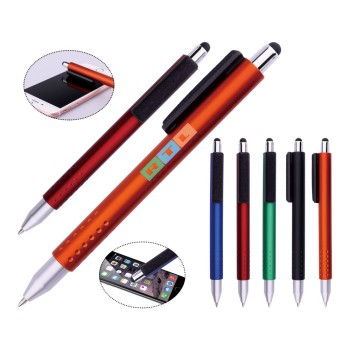 Promotional low price Stylus pen clean screen ballpoint pen for advering