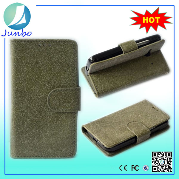 Wholesale custom wallet cover leather flip case for nokia asha 501