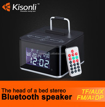 NFC Bluetooth Speaker charging Docking Station for Android and IPhone With Radio Alarm Clock