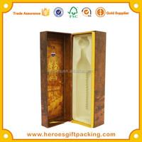 Trade Assurance Customized PVC Blister Insert Paper Box High-end Wine Brandy Whisky XO Maotai Paper Box