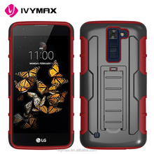 Good price bulk buy from China heavy duty armor defender combo case for LG K8 with kickstand belt clip