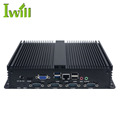 Wireless industrial pc quad core J1900 with 4G RAM quiet computer 6COM 1LAN Linux system