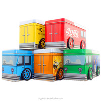 Christmas tin box packing bus -shape