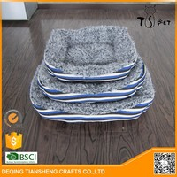 Cheap fashion linen fabric durable dog beds