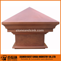 Easy assembled hammered copper post cap