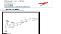 Mercedes Benz 800 Van exhaust systems
