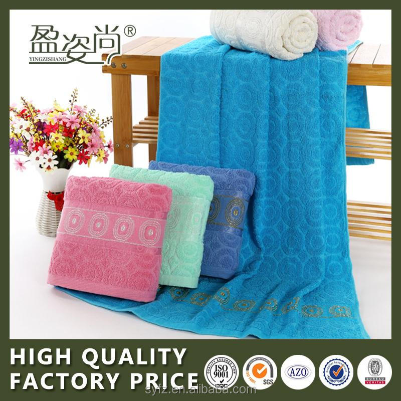 2016 china textile wholesale high quality custom round beach towel 100% cotton