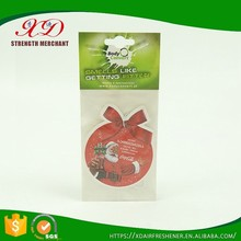 High Quality Custom Shape and Scents Car Air Freshener for Christmas Gifts
